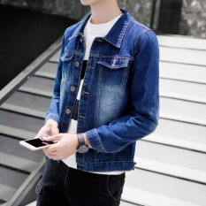 In Spring and Summer, Men Wear Thin Holes, Jackets, Korean Style, Leisure Students, Jeans, Coats, Fashion Men's Clothes