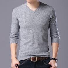 Pada Musim Gugur 2017 Baru Pria Lengan Panjang V Leher Rajut Baju Sederhana dan Nyaman Modis Santai Pria 'S Sweater-Internasional