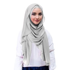 Inara Hijab Kerudung Instan - [Warna Abu-abu]