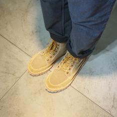 India Gaya Jepang Dr. Martens Angin Valgus Sepatu Boots Pria (Beige)