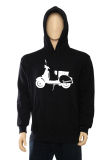 Cuci Gudang Indoclothing Hoodie Vespa H 03 Hitam