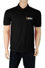 IndoClothing Polo Shirt National Geographic Music - Hitam