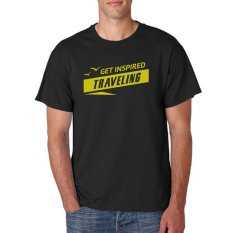 Indoclothing T Shirt Get Inspired Traveling - Hitam