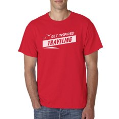 Indoclothing T Shirt Get Inspired Traveling - Merah