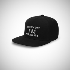 Harga Indoclothing Topi Snapback Everyday I M Muslim Hitam