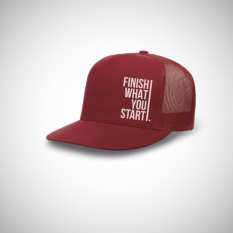 Promo Indoclothing Topi Trucker Finish What You Start Maroon Indoclothing