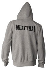 Kualitas Indoclothing Zipper Hoodie Muay Thai 02 Abu Misty Indoclothing