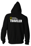 Toko Jual Indoclothing Zipper Hoodie National Geographic Traveler Hitam