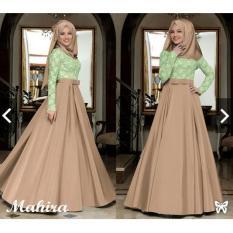 Indonesia Heritage Gamis Syari Pesta bahan Glitter Saten dg Pashmina / Baju Kondangan Muslimah / Fashion