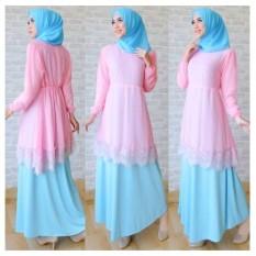 IndonesiaHeritage Baju Kondangan Muslimah dg Hijab (Real Pic) - Gamis Syari Pesta Mewah Elegan - Kaftan Premium - Gaun Muslim - Maxy Dress - Kebaya Modern Pesta