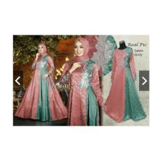 IndonesiaHeritage Gamis Pesta Premium Bordir Mewah Jacquard Glitter (Real Pic) - Baju Kondangan Muslimah - Abaya Premium - Kebaya Modern - Fashion Busana Muslim Impor ihtessae