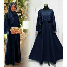 IndonesiaHeritage Gamis Syarie Pesta Brukat - Kondangan Muslimah hijaber Brokat - Maxy Dress Cantik - Fashion Busana Muslim Wanita -  Gaun party - Kebaya Modern iholivia