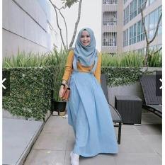 IndonesiaHeritage Overall Kekinian - Gamis Syari Casual Remaja Balotelly - Maxy Dress Murah - Gamis Kodok Jumbo ihacha
