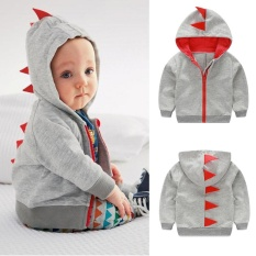Rp 110.000. Infant Toddler Baby Boy Girl Dinosaur Pattern Hooded Zipper Tops Clothes Coat ...