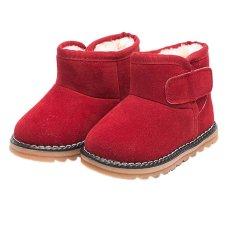 Bayi Bayi Perempuan Sepatu Anak Laki-laki Anak Laki-laki Musim Dingin Salju Tebal Sepatu Boots Bulu-Intl