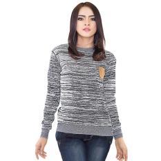 Jual Inficlo Baju Sweater Rajut Atasan Sekolah Kuliah Kerja Wanita Abu Online Di Indonesia