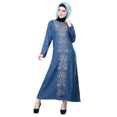 Inficlo Gamis SHJ 797 Busana Muslim Fashion Wanita-Biru // Bhn Denim Promo
