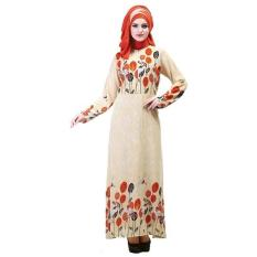 Inficlo Gamis SHJ 830 Busana Muslim Wanita-Krem // Bhn Hycon