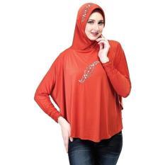 Inficlo Kerudung SKI 471 Busana Muslim Wanita-Orange // Bhn Spandek