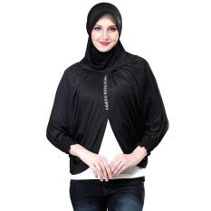 Inficlo Sny 431 Kerudung / Jilbab Syar'i Wanita - Spandek - Cantik (Hitam