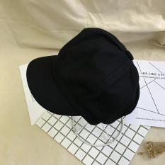 Promo Topi Inggris Bordir Topi Baret Korea Fashion Style Perempuan Hitam Oem