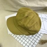 Harga Topi Inggris Bordir Topi Baret Korea Fashion Style Perempuan Jahe Kuning