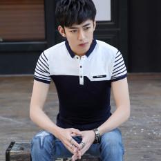 Promo Inggris Katun Kerah Kemeja Slim Polo T Shirt 9009 Biru Tua Kerah 9009 Biru Tua Kerah Tiongkok