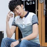 Promo Inggris Katun Kerah Kemeja Slim Polo T Shirt 9009 Cahaya Biru Kerah 9009 Cahaya Biru Kerah Tiongkok