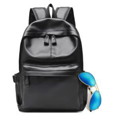 Penawaran Istimewa Inggris Kulit Muda Tas Pria Tas Bahu Hitam Dengan Kacamata Tidak Dengan Pengisian Headset Lubang Terbaru