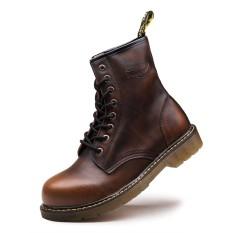 Inggris Kulit XL Sepatu Bot Pendek Dr. Martens (Brown)