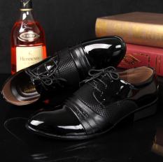 Inggris Pria Baru Menunjuk Datar Kasual Sepatu Kulit Musim Semi Sepatu Kulit Hitam 7 22 Diskon Akhir Tahun