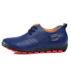 Inggris Motif Kulit Ular Tidak Terlihat Sepatu Golden Goose Sepatu Pria Sepatu Kulit Pria (Biru 6 Cm Peninggi)