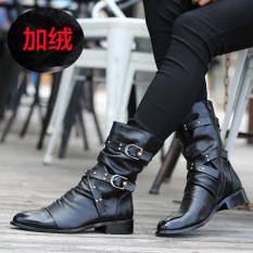 Harga Inggris Musim Gugur Pria Menunjuk Kulit Sepatu Boot M65 1 Hitam Sepatu Katun Sepatu Pria Sepatu Safety Sepatu Boots Pria Asli