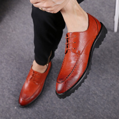 Inggris Sepatu Golden Goose Bisnis Formal Menunjuk Sepatu Pria Sepatu Kulit Pria (92301 Warna Merah Bata Sepatu Golden Goose Model)