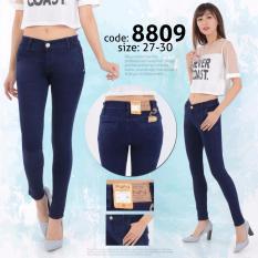 Harga Inn Celana Jeans Wanita Berbahan Denim Kantong Bobox Navy Origin