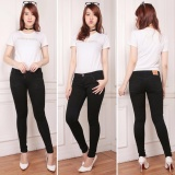 Nusantara Jeans Celana Panjang Wanita Model Skinny Street Berbahan Soft Jeans Bagus Murah Jahitan Rapi Hitam Terbaru