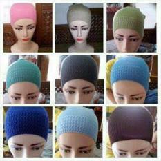 Jual Inner Hijab Ciput Rajut Anti Pusing Isi 6Pcs Bebas Pilih Warna Kemuning Online