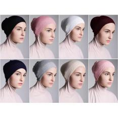 Beli Inner Hijab Ciput Rajut Anti Pusing Isi 6 Pcs Pilih Warna Sesukamu Kemuning