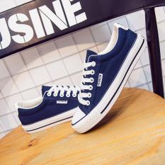 Spesifikasi Ins Korea Fashion Style Perempuan Baru Renda Sepatu Kets Putih Sepatu Kanvas Biru Tua Sepatu Wanita Sepatu Sport Sepatu Sneakers Wanita Yang Bagus Dan Murah