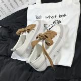 Beli Sepatu Kanvas Wanita Sol Tebal Versi Korea Putih Putih Lengkap