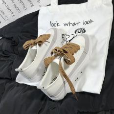 Toko Sepatu Kanvas Wanita Sol Tebal Versi Korea Putih Putih Online