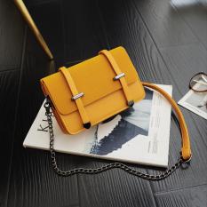 In Tas Wanita Musim Semi Dan Musim Panas Baru Tas Tali Rantai Korea Fashion Style (Kuning)