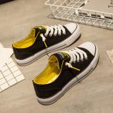 Toko Sepatu Kanvas Siswa Perempuan Gaya Hongkong Hitam Hitam Di Tiongkok