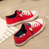 Spesifikasi Sepatu Kanvas Siswa Perempuan Gaya Hongkong Merah Merah Merk Other