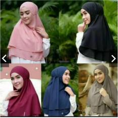 Instan Hijab Double Layer Bergo Maryam / Bergo Maryam 2 Layer Hijab Instant