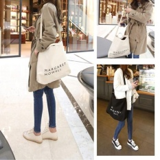 Promo International 2017 Wanita Surat Korea Casual Simple Tote Bags Canvasbags Putih Intl Murah