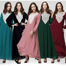 [Internasional] Muslim Musim Panas Renda Lace Collar Satu Potong Timur Tengah Baru Dress-Intl