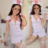 Diskon Intristore Baju Tidur Lingerie S*xy Nurse Putih White Garter 34
