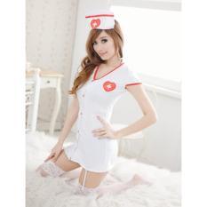 Jual Intristore Lingerie S*xy Nurse Putih White Garter 34 Original