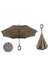 Promo Inverted Umbrella Double Layer Reverse Umbrella With C Shaped Hands Leopard Print Intl Di Tiongkok